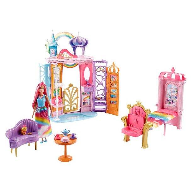 Barbie Dreamtopia Regnbue Slot med Dukke