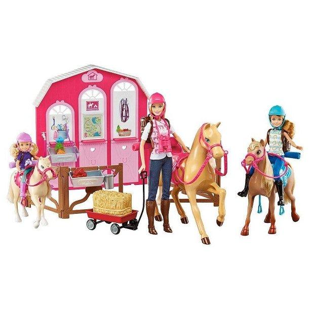 Barbie Ranch med Heste og Dukker