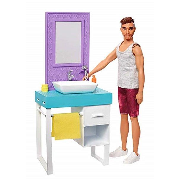 Barbie Ken Barbere sig på Badeværelset