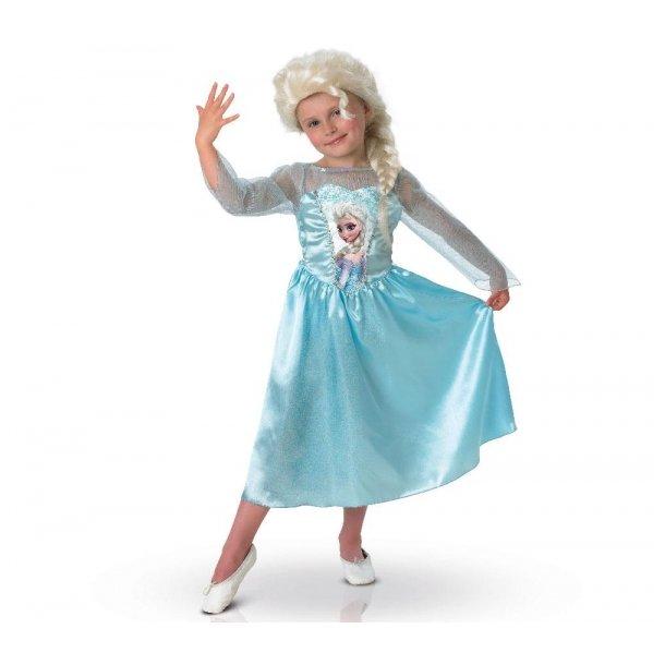 Disney Frost Elsa Kjole str. 7-8år